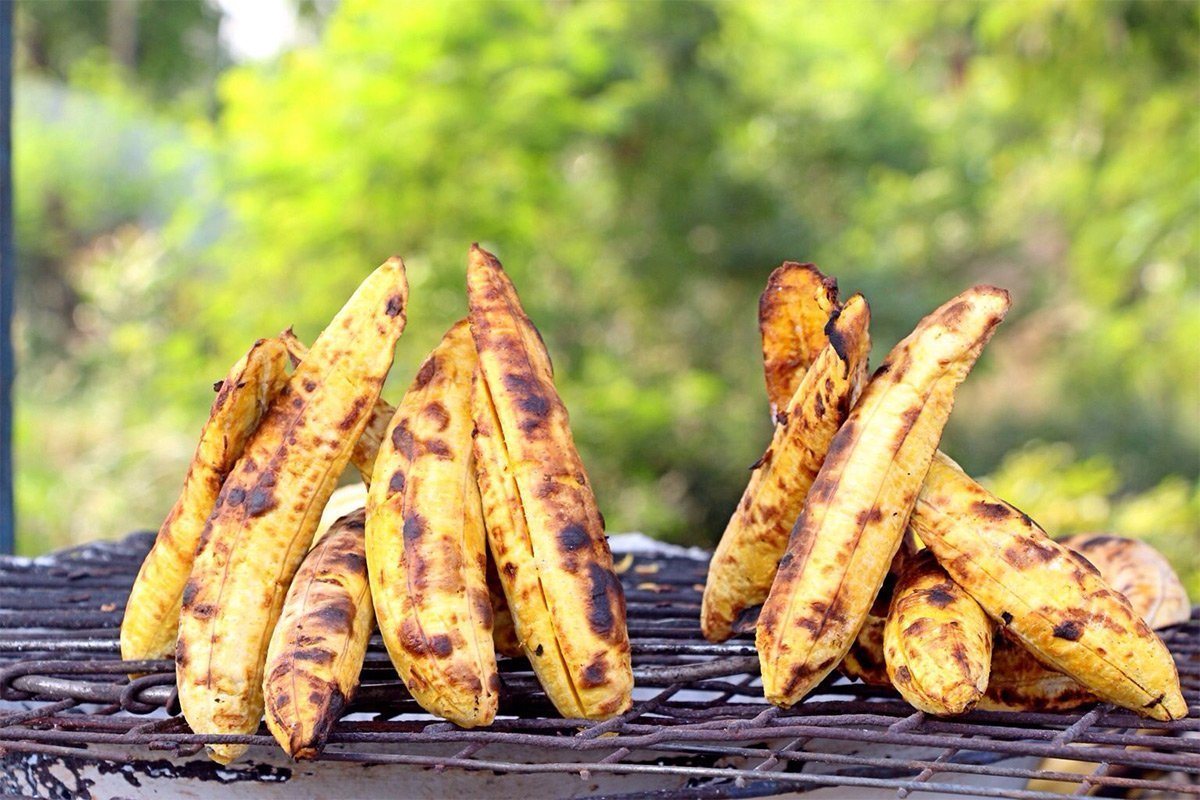 Roasted Plantain - uganda trvale snack