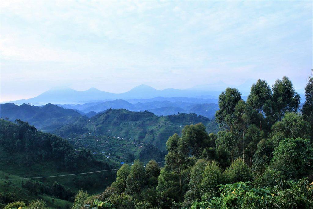 Landscape of Uganda during the rain seasons of February