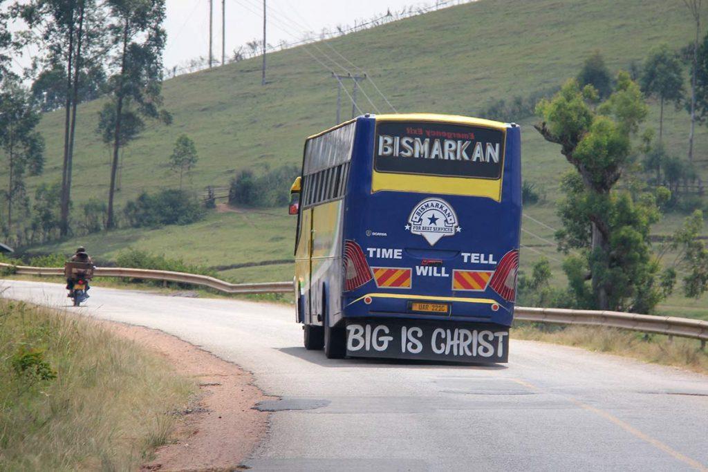 Buses on uganda road transport