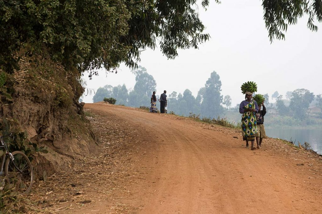 Dirt Road Off The Highway to Bwindi