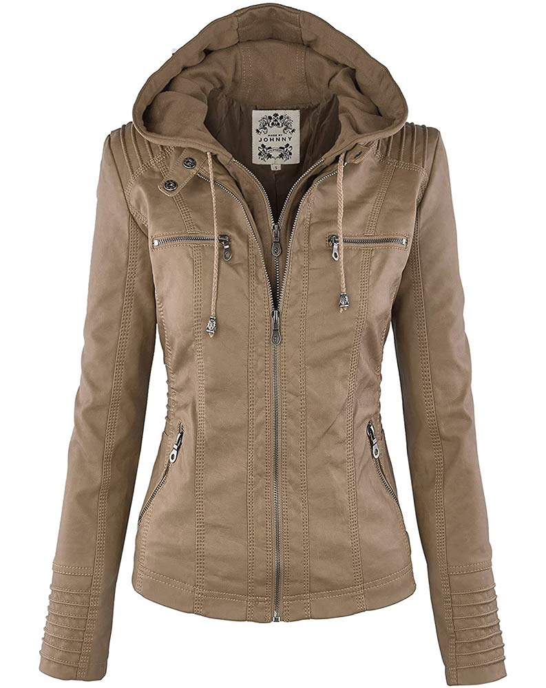 Lock and Love Women's Removable Hooded safari jumper