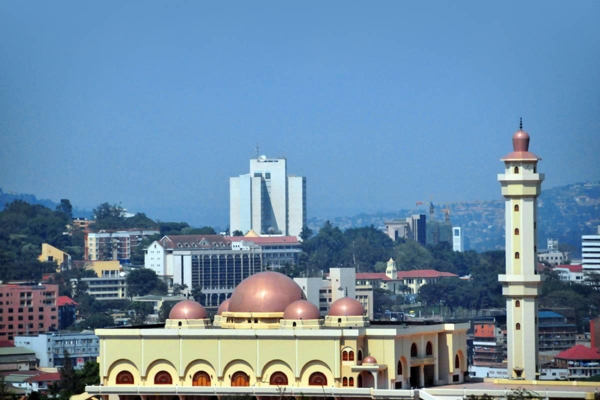 The imposing Uganda National Mosque decorating Old Kampala Skies
