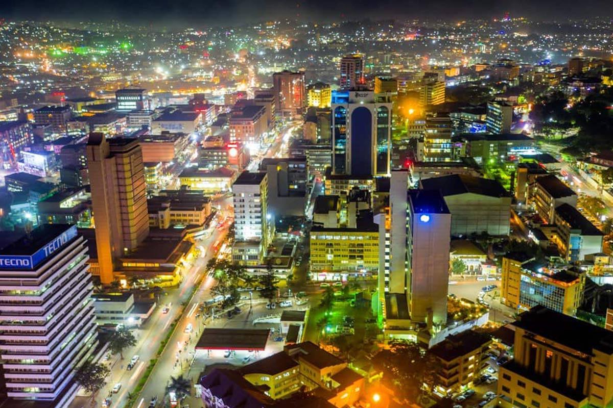 Kampala City Center Nightlights