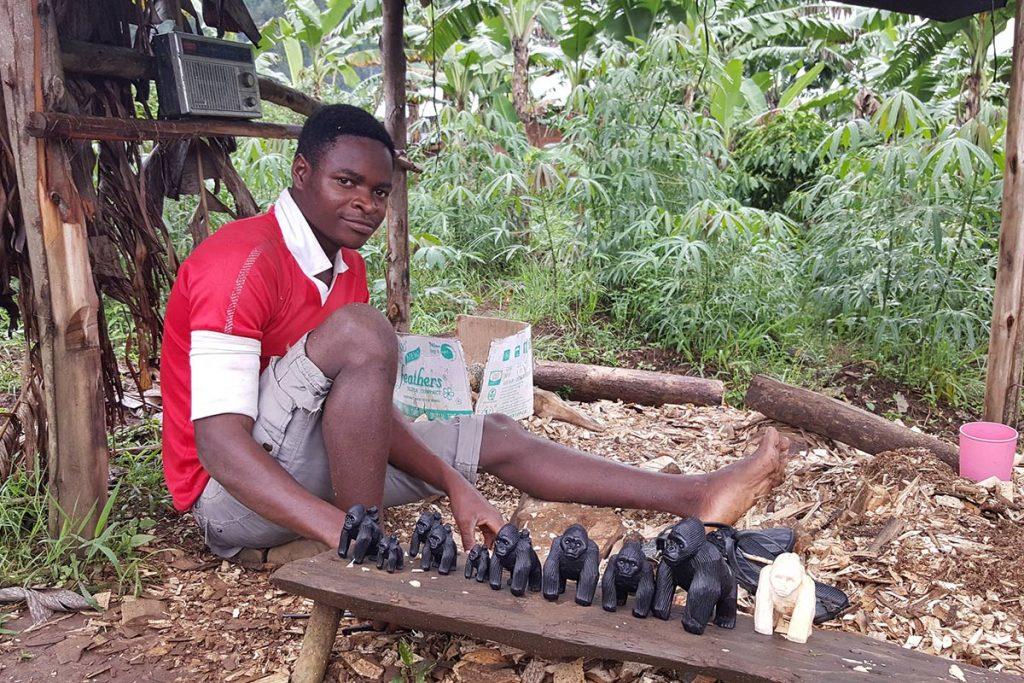 A Craftsman Selling His Art Near Bwindi NP. Awesome things about Uganda