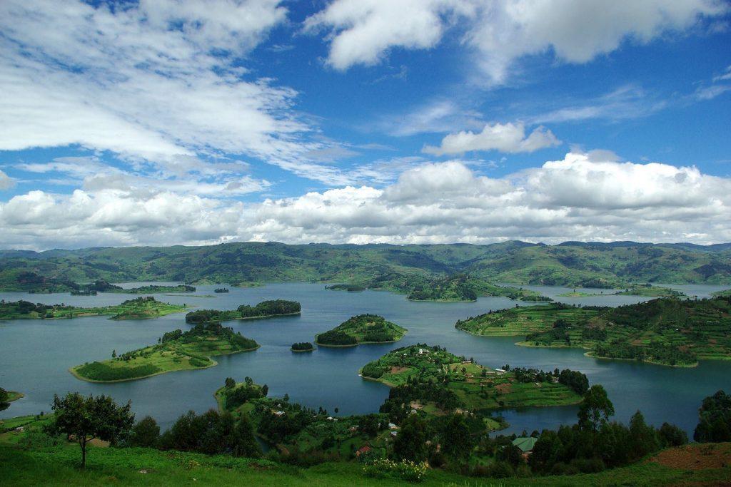 Lake Bunyonyi Near Bwindi Western Uganda