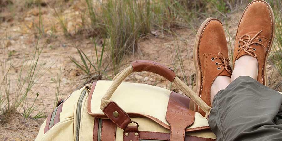 Shoes to wear on safari in Uganda.