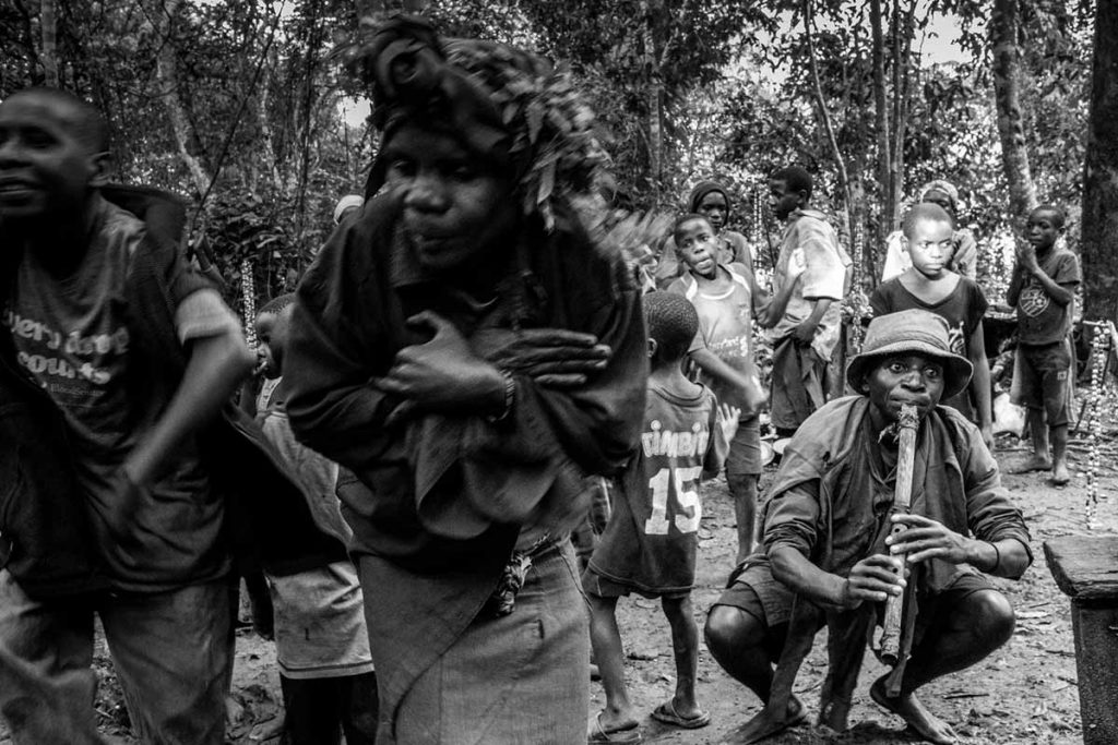 Batwa 'Pygmy' Tribe Performing For Visitors in Buhoma.